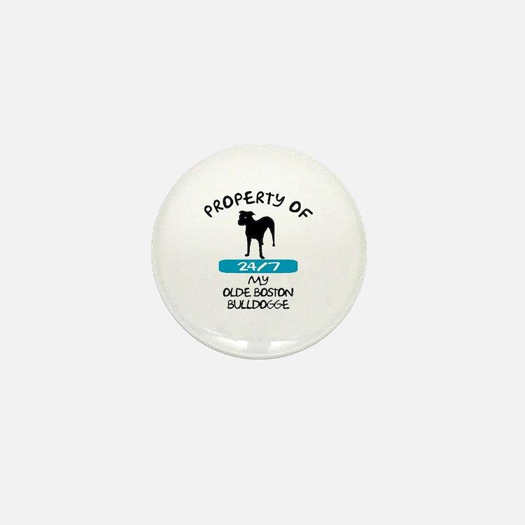 Olde Boston Bulldogge Mini Button
