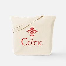 Red Celtic Tote Bag