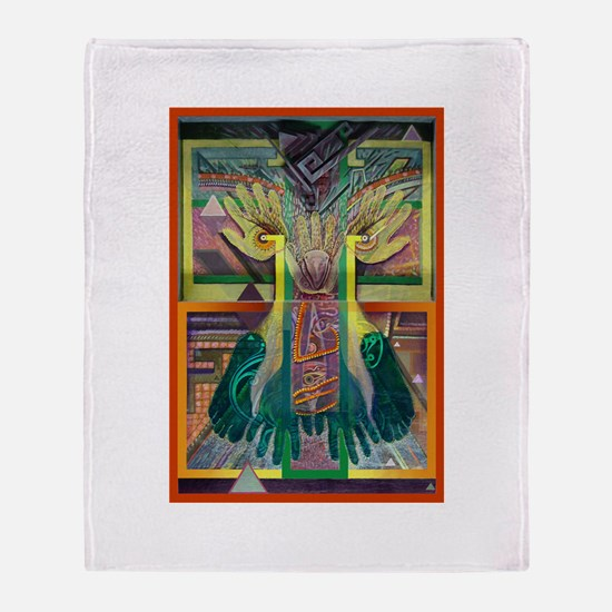 Ancient Traces Throw Blanket