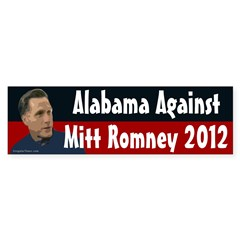 Alabama Against Mitt Romney 2012 bumper sticker