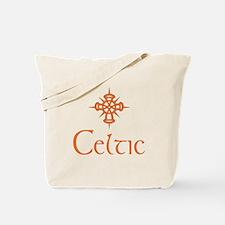 Orange Celtic Tote Bag
