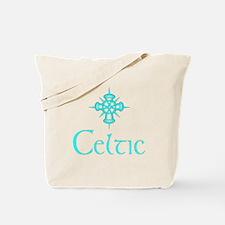 Aqua Celtic Tote Bag
