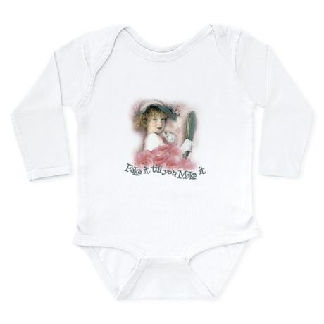 Fake It Till You Make It Long Sleeve Infant Bodysu