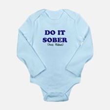 Cute Recovering alcoholic Long Sleeve Infant Bodysuit
