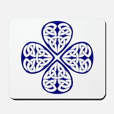Navy Blue Shamrock Celtic Kno Mousepad