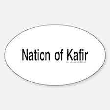 Nation of Kafir Oval Decal
