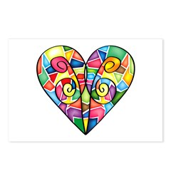 Colorful Heart Postcards (Package of 8)