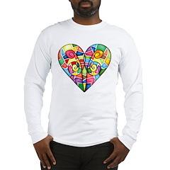 Colorful Heart Long Sleeve T-Shirt