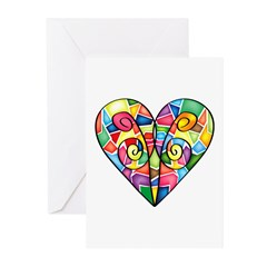 Colorful Heart Greeting Cards (Pk of 20)