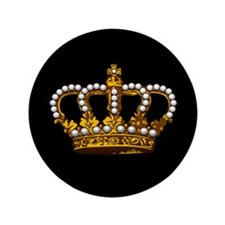 """Royal Wedding Crown 3.5"""" Button (100 pack)"""