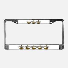 Royal Wedding Crown License Plate Frame