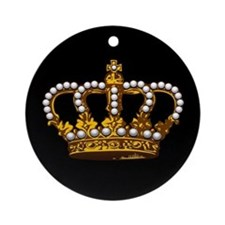 Royal Wedding Crown Ornament (Round)