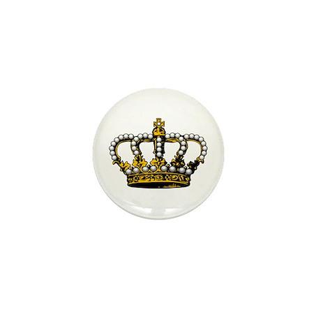 Royal Wedding Crown Mini Button (10 pack)