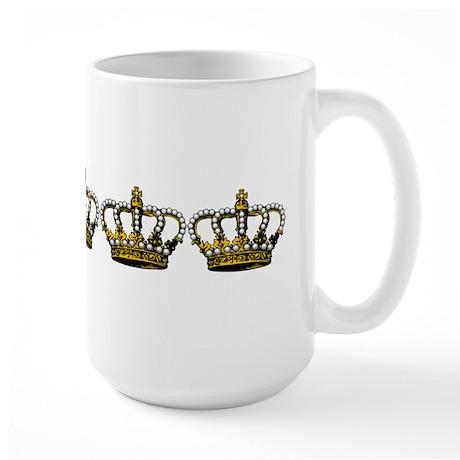 Royal Wedding Crown Large Mug