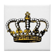 Royal Wedding Crown Tile Coaster