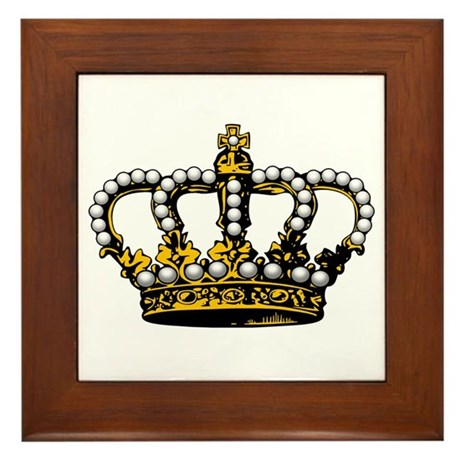 Royal Wedding Crown Framed Tile