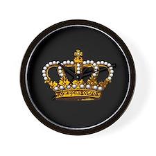 Royal Wedding Crown Wall Clock