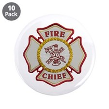 """Fire Chief Maltese 3.5"""" Button (10 pack)"""