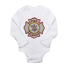 Fire Chief Maltese Long Sleeve Infant Bodysuit