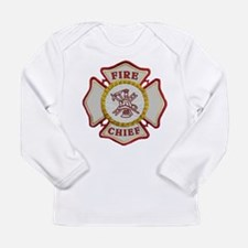 Fire Chief Maltese Long Sleeve Infant T-Shirt