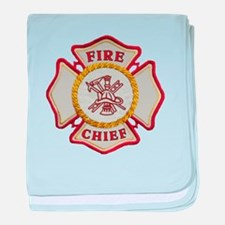 Fire Chief Maltese baby blanket