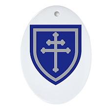 Cross of Lorraine Ornament (Oval)