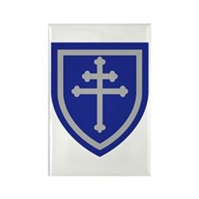 Cross of Lorraine Rectangle Magnet