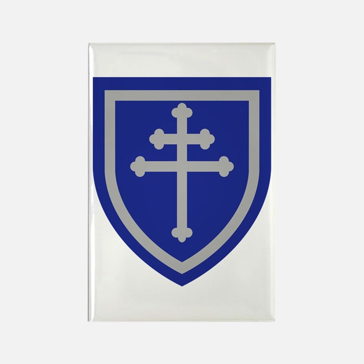 Cross of Lorraine Rectangle Magnet