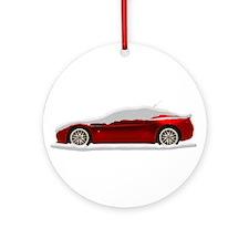 Snow Covered V8 Vantage Ornament (Round)