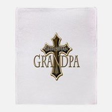 Christian Grandpa Throw Blanket