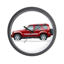 Snow Covered Jeep Liberty Wall Clock