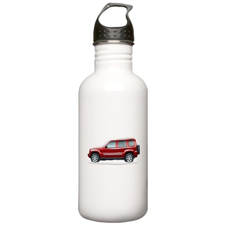 Snow Covered Jeep Liberty Stainless Water Bottle 1