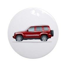 Snow Covered Jeep Liberty Ornament (Round)