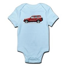 Snow Covered Jeep Liberty Infant Bodysuit
