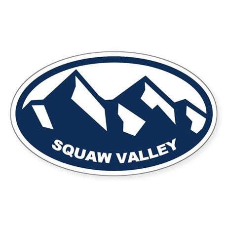 Squaw Valley Sticker (Oval)