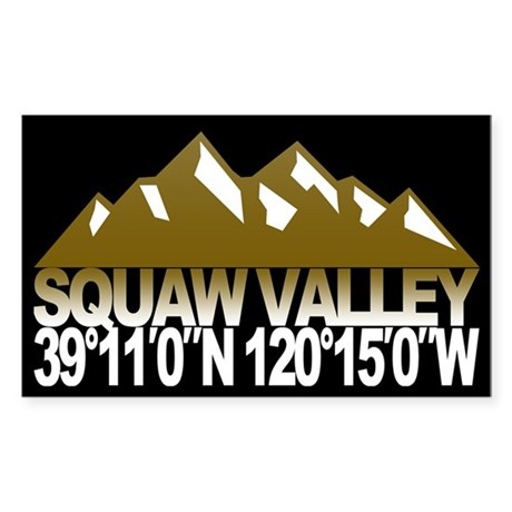 Squaw Valley Sticker (Rectangle)