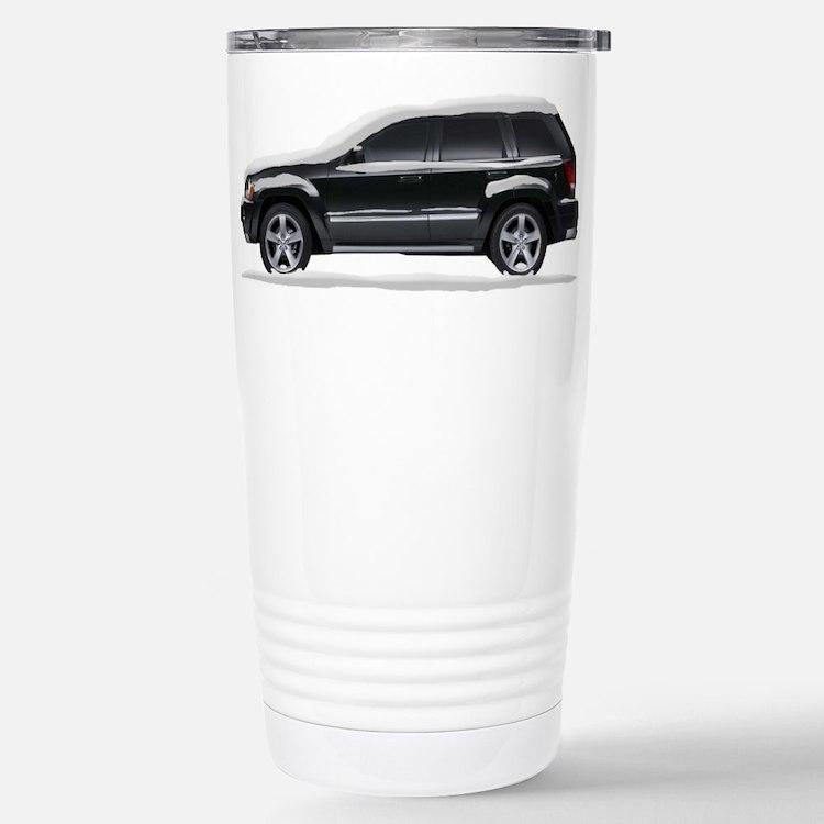 Snow Covered Jeep Grand Chero Travel Mug