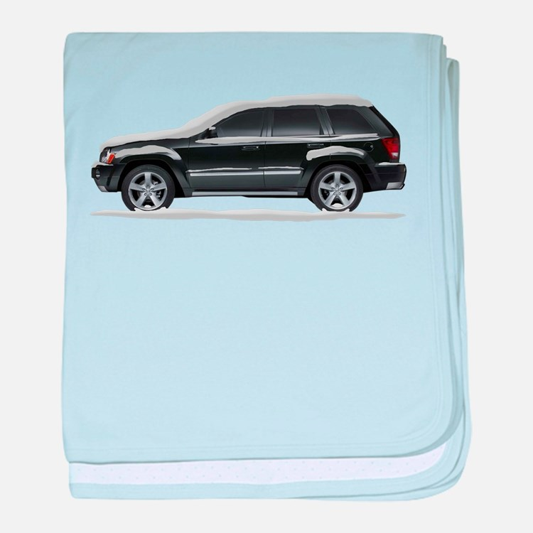 Snow Covered Jeep Grand Chero baby blanket