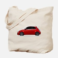 Snow Covered Fiat 500 Tote Bag