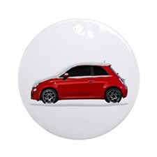 Snow Covered Fiat 500 Ornament (Round)