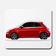 Snow Covered Fiat 500 Mousepad