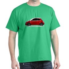 Snow Covered Fiat 500 T-Shirt