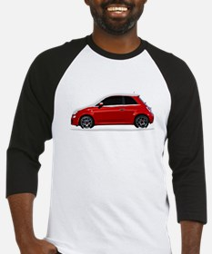 Snow Covered Fiat 500 Baseball Jersey