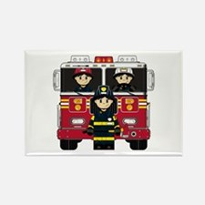 Firefighters and Fire Engine Magnet