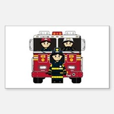 Firefighters and Fire Engine Decal