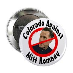 Colorado Against Mitt Romney campaign button