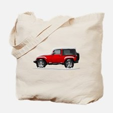 Snow Covered Jeep Wrangler Tote Bag