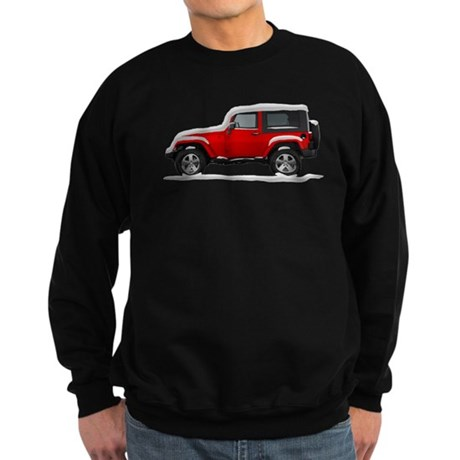 Snow Covered Jeep Wrangler Sweatshirt (dark)