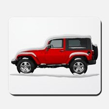 Snow Covered Jeep Wrangler Mousepad