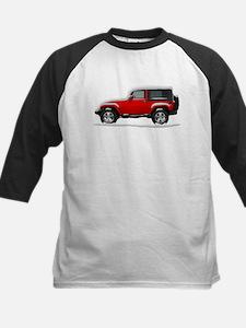 Snow Covered Jeep Wrangler Kids Baseball Jersey